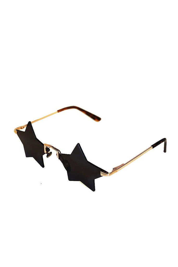 Star Frameless Sunglasses-Black