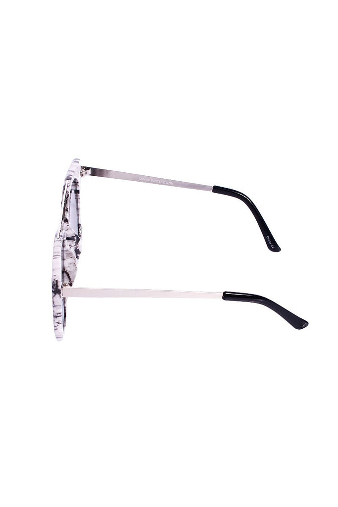 Marble Wellington Sunglasses- Chrome