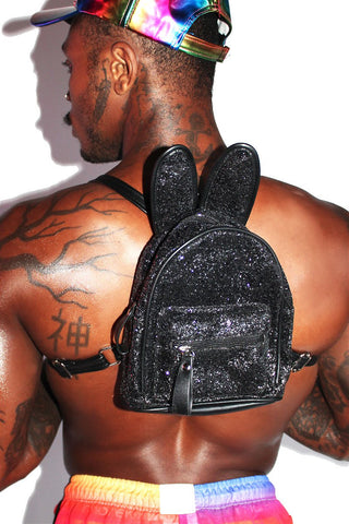 Bunny Ear Backpack-Black