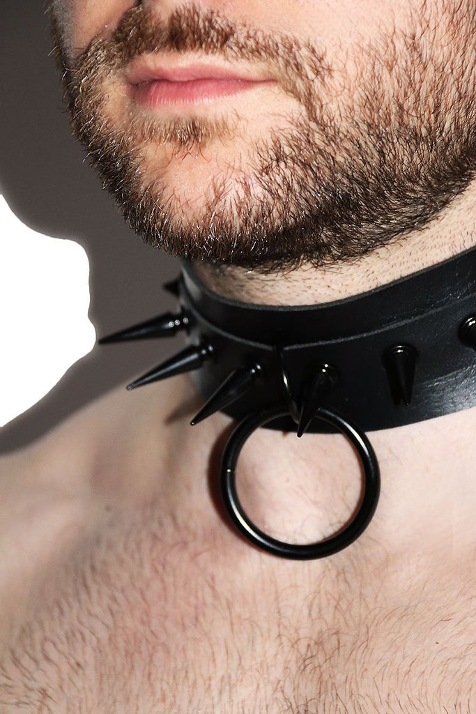 Cyberpunk Dog Collar Choker- Black