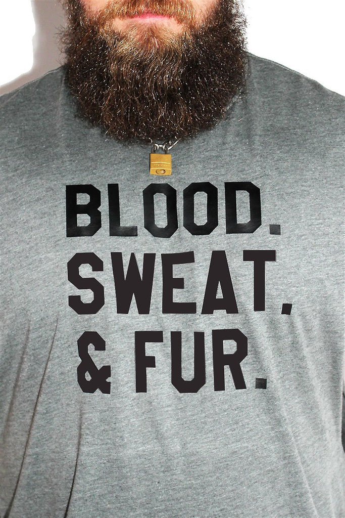 PLUS: Blood, Sweat and Fur Low Arm Tank-Light Charcoal