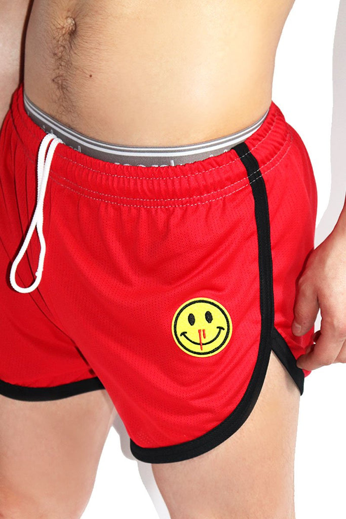 Nose Bleed Running Shorts-Red