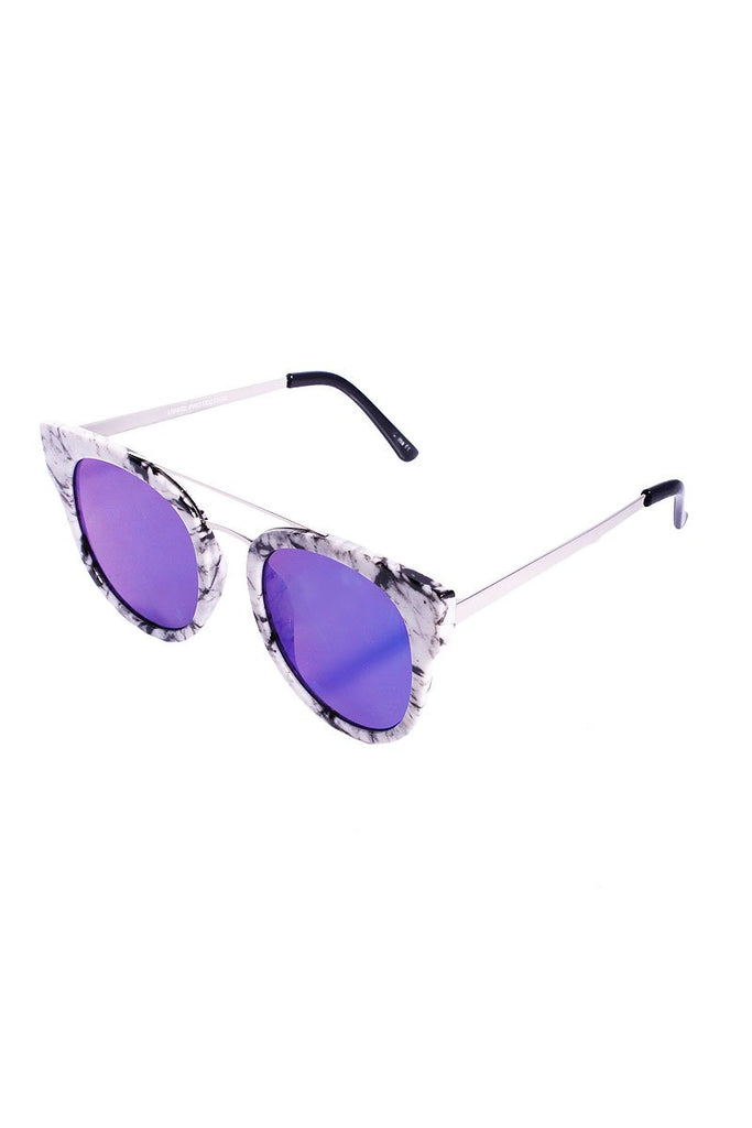 Marble Wellington Sunglasses- Blue