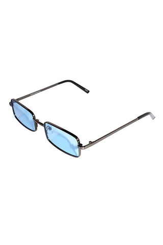 Frameless Cat Eye Sunglasses-Blue