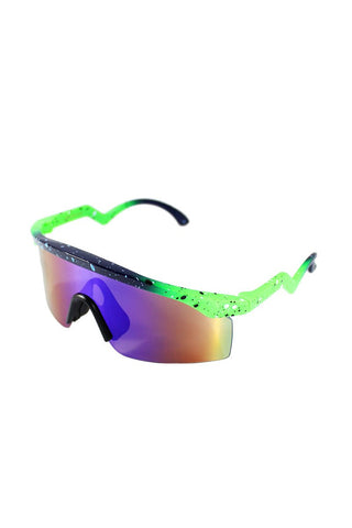 Splatter Ski Shade Sunglasses-Green