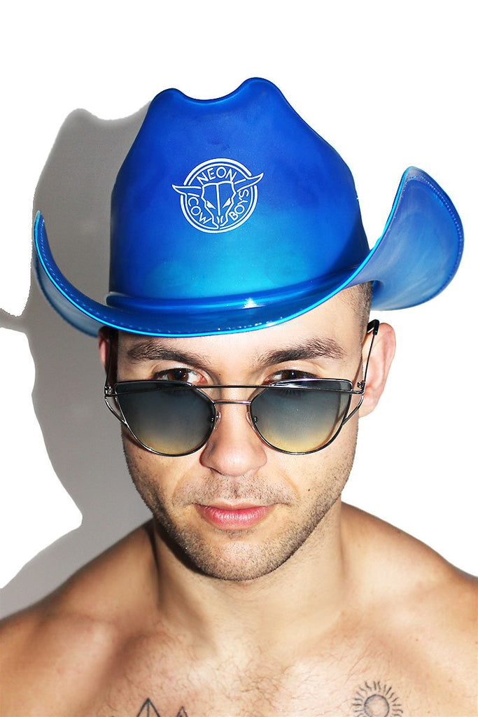 LED Neon Cowboys Hat-Blue