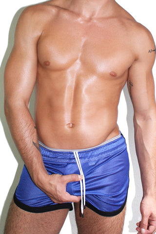 Mesh Running Shorts- Blue
