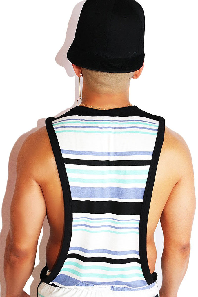 Mykonos Low Arm Tank-Blue