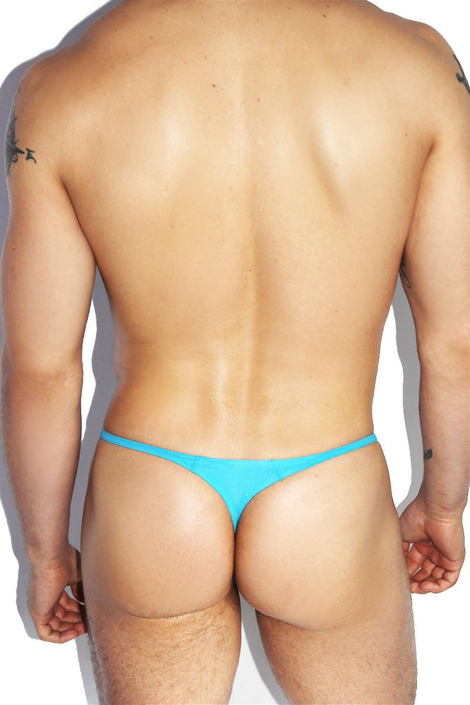 Santa Monica String Thong- Blue