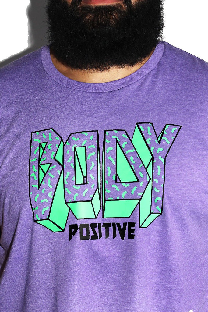 PLUS: Body Positive Crop Tee - Purple