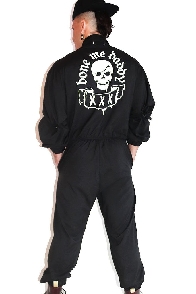 Bone Me Daddy Utility Jumpsuit- Black