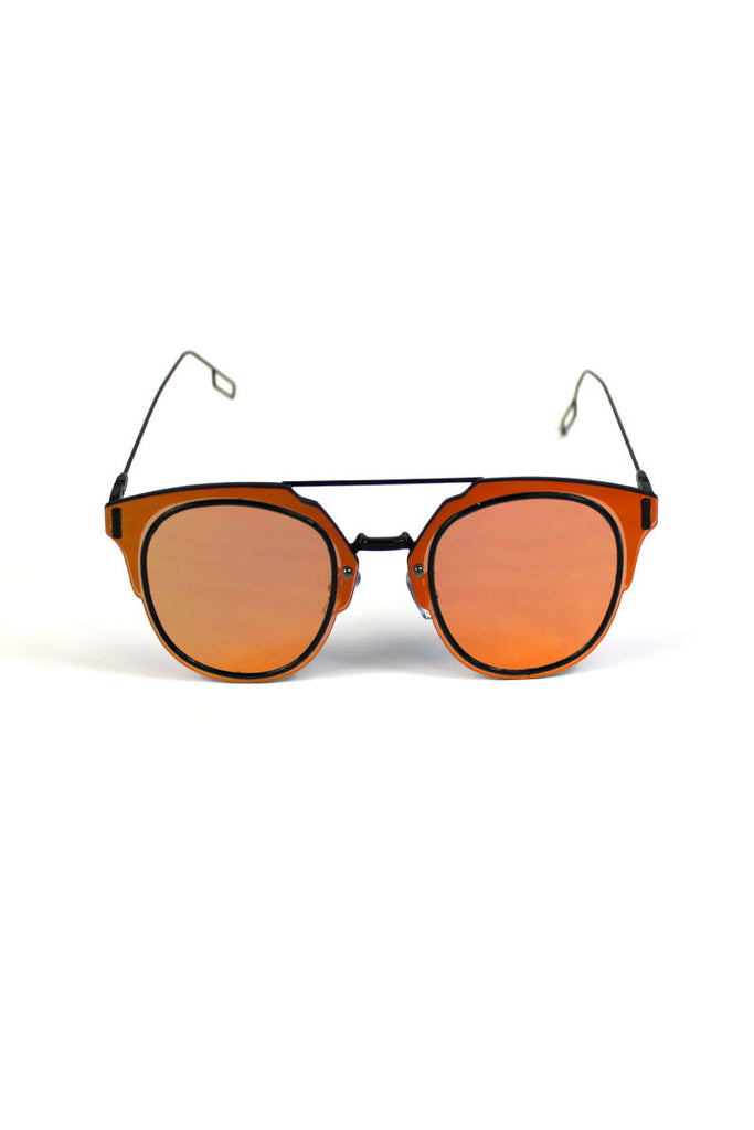 Mirror Frameless Clubmaster-Orange