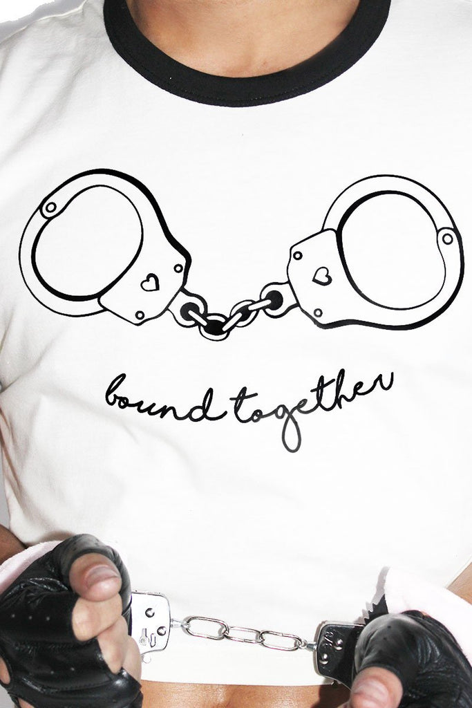 Bound Together Ringer Crop Tee-Cream