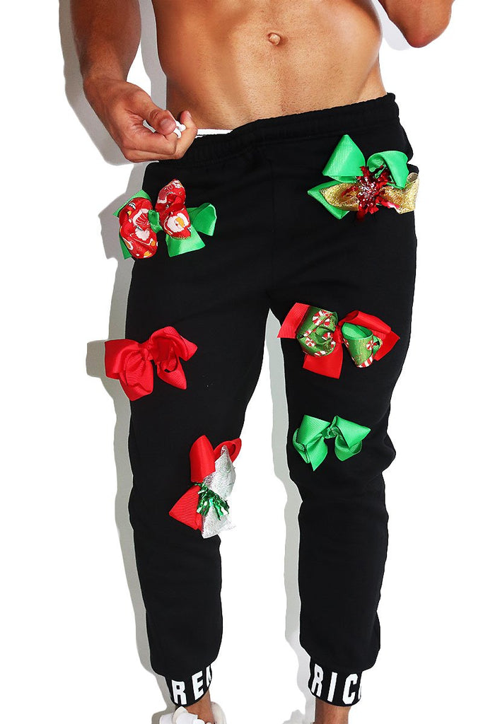 Packages and Bows Sweatpants- Black