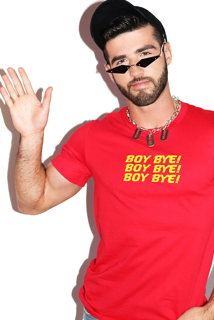 Boy Bye Tee-Red