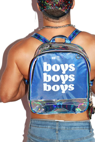 Boys Boys Boys Backpack-Blue
