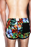 Bird of Paradise Running Shorts- Black