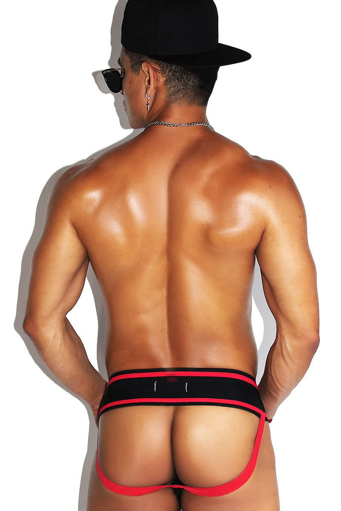 Bottom Laceup Jock-Red