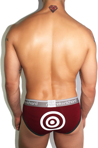 Bullseye Brief- Burgundy