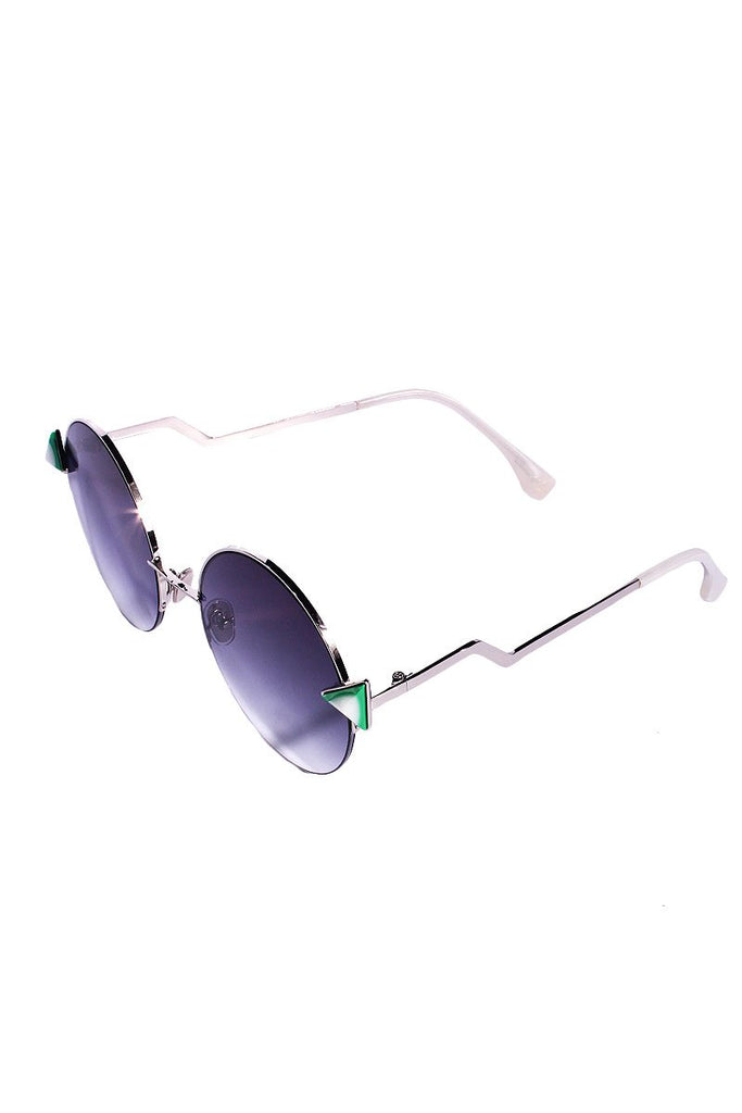 Desert Triangle Sunglasses-Green