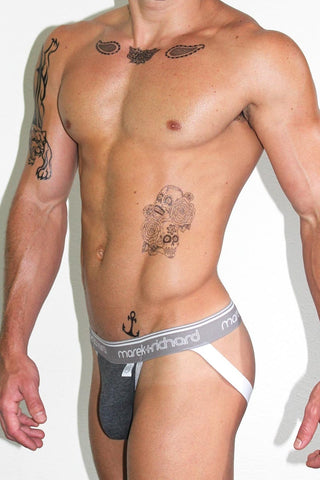Fuck Me Vegan Leather Jock- Black