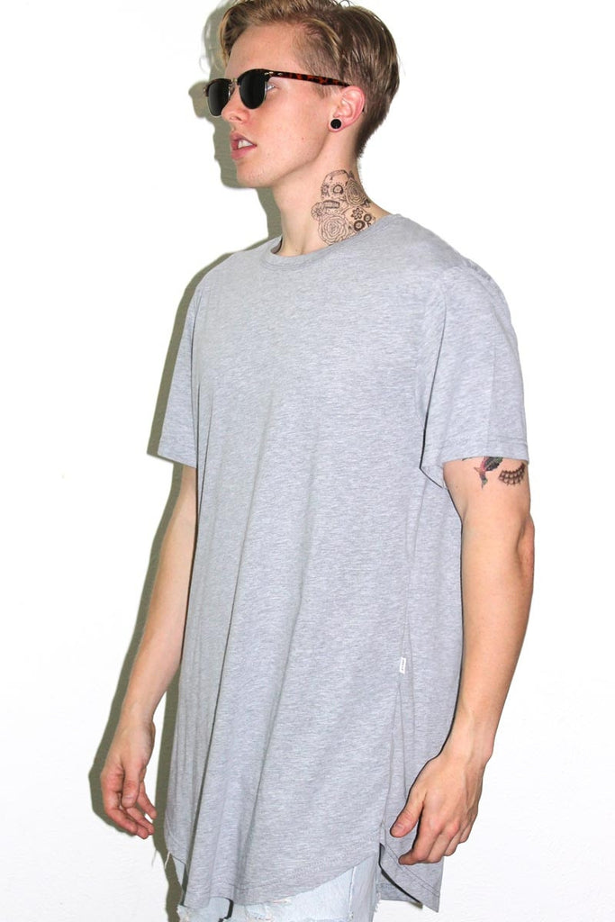Core Long Tee-Grey