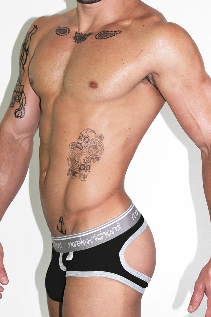 Core Open Back Brief-Black