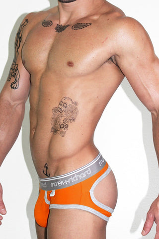 Core Open Back Brief-Mango