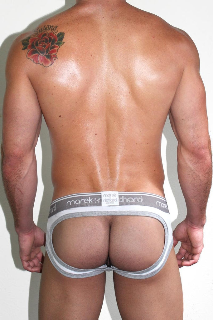 Core Open Back Brief-White