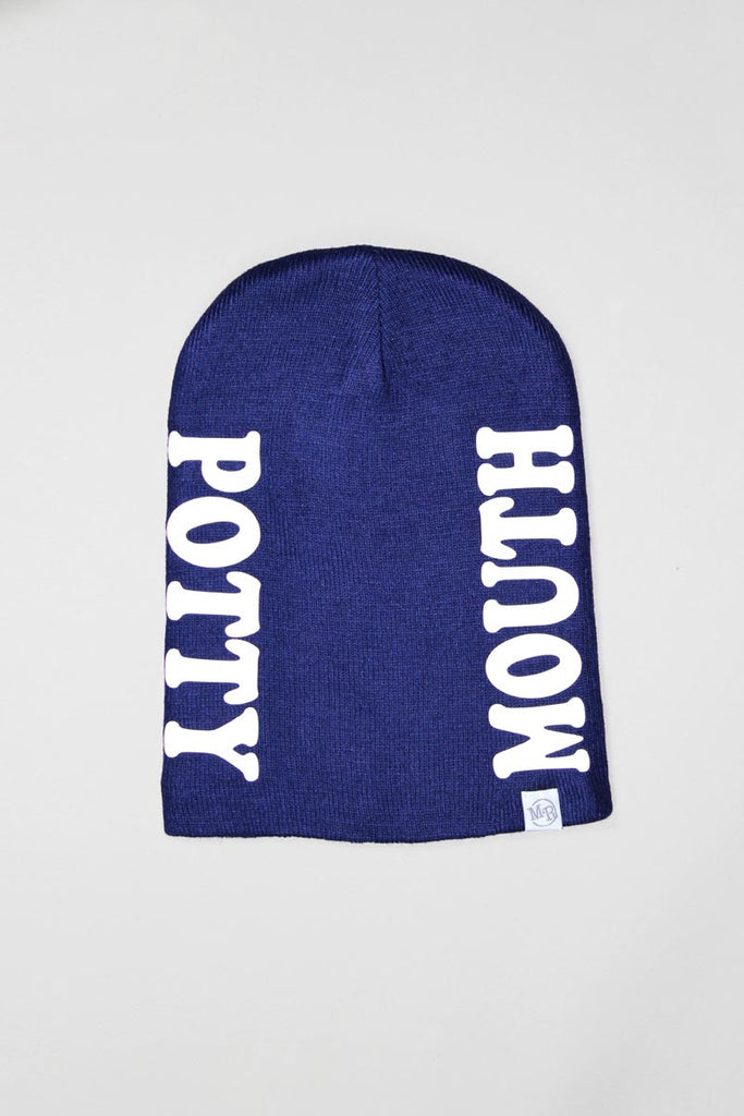 Potty Mouth Beanie- Navy