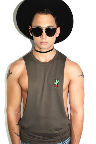 Cactus Patch Shredder Tank-Olive
