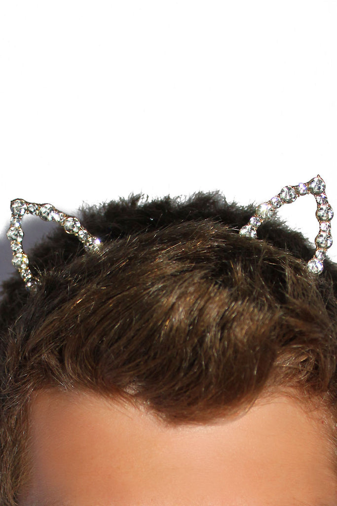 Meow Bling  Cat Ears Headband-Gold