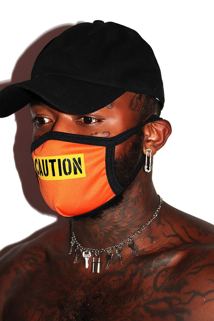 Caution Face Mask- Orange