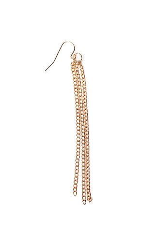 Hammered Teardrop Single Earring-Gold