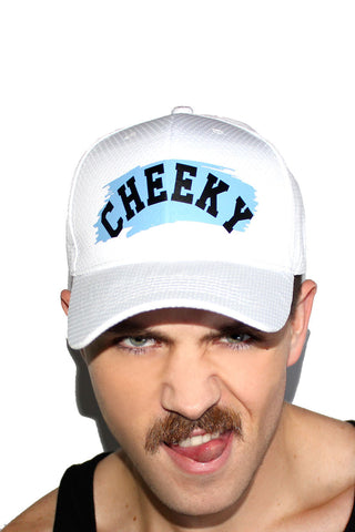 Cheeky Mesh Dad Hat- White