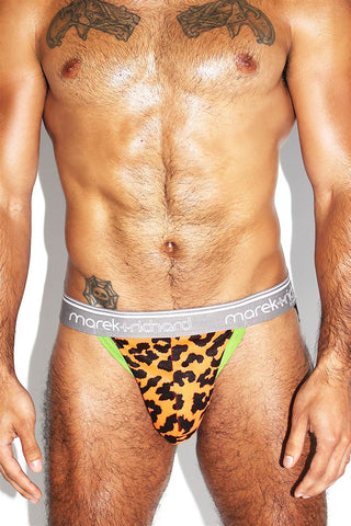 Neon Cheetah Jock-Orange