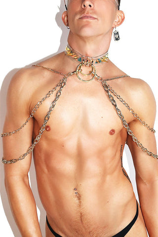 Guilded Chain Vinyl Harness- Gold