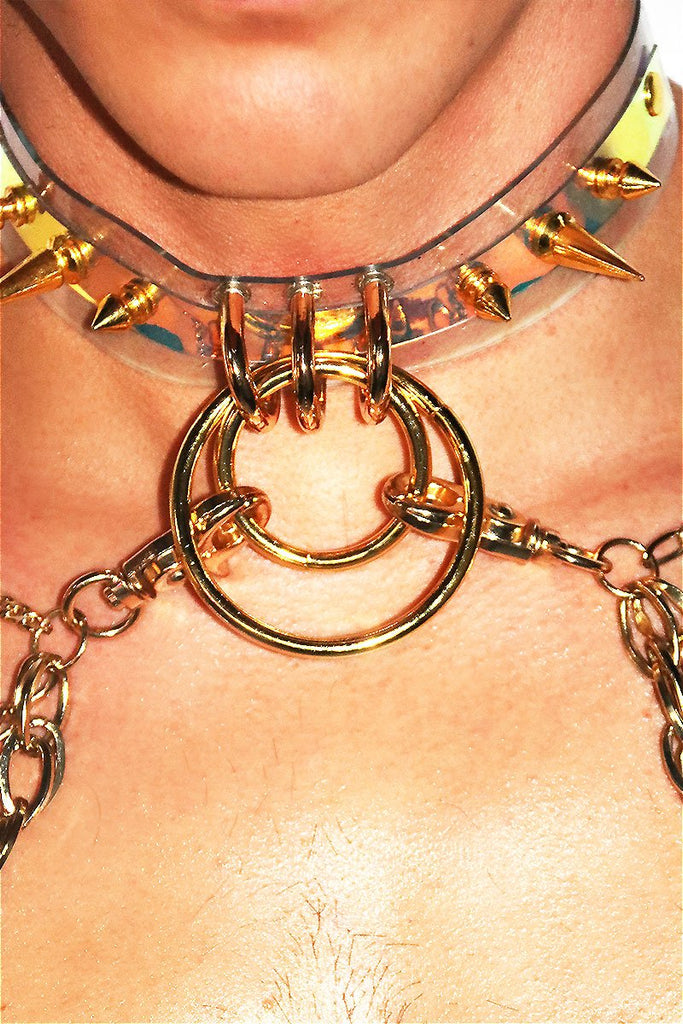 Gilded Chain Vinyl Harness- Gold