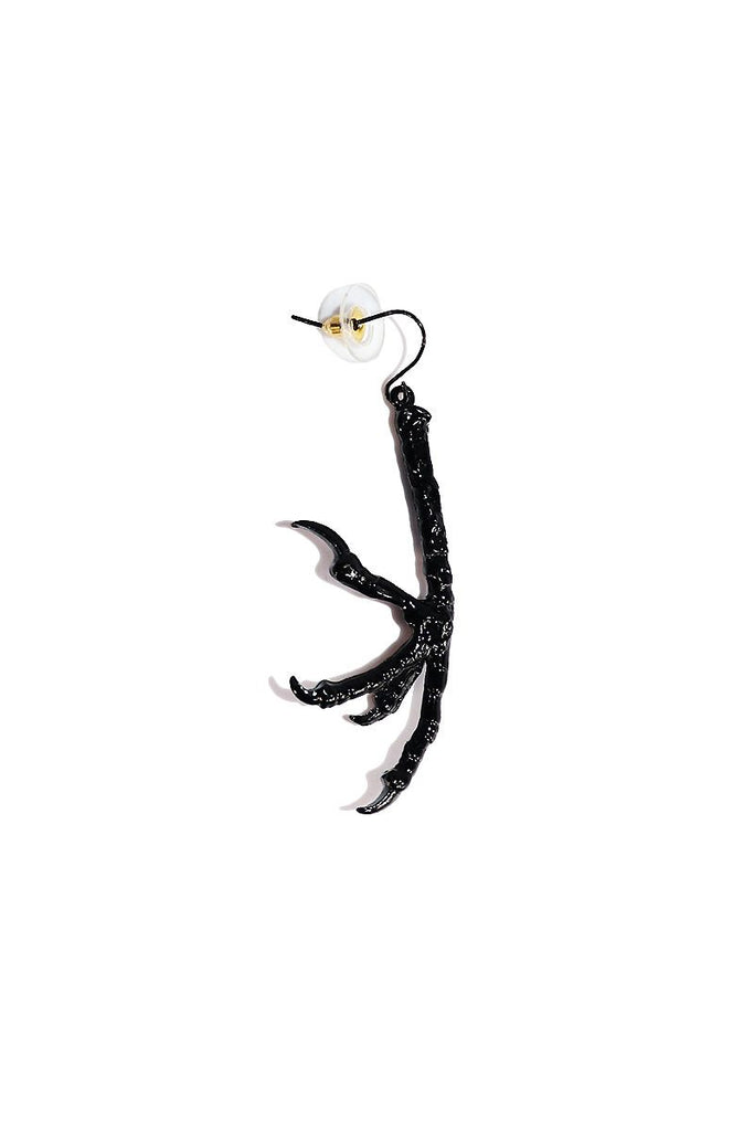Chicken Foot Single Earring-Black