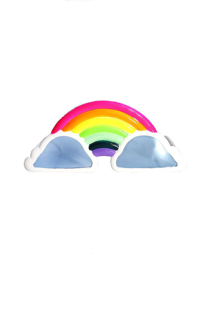 Over The Rainbow Party Sunglasses- White