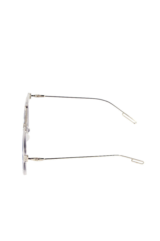 Wire Acrylic Frame Sunglasses-Clear