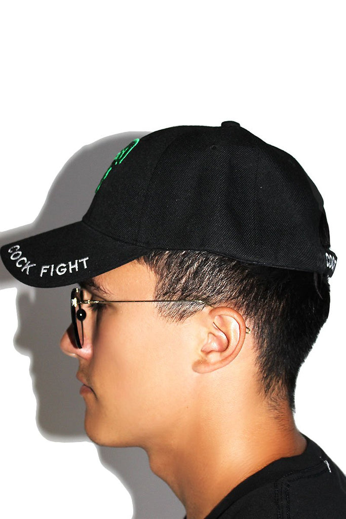 Cock Fight Dad Hat- Black