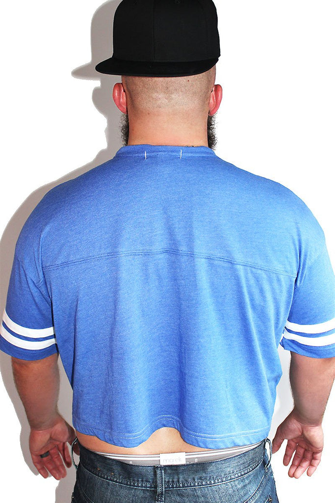 PLUS: Cocky Vintage Crop Tee- Blue