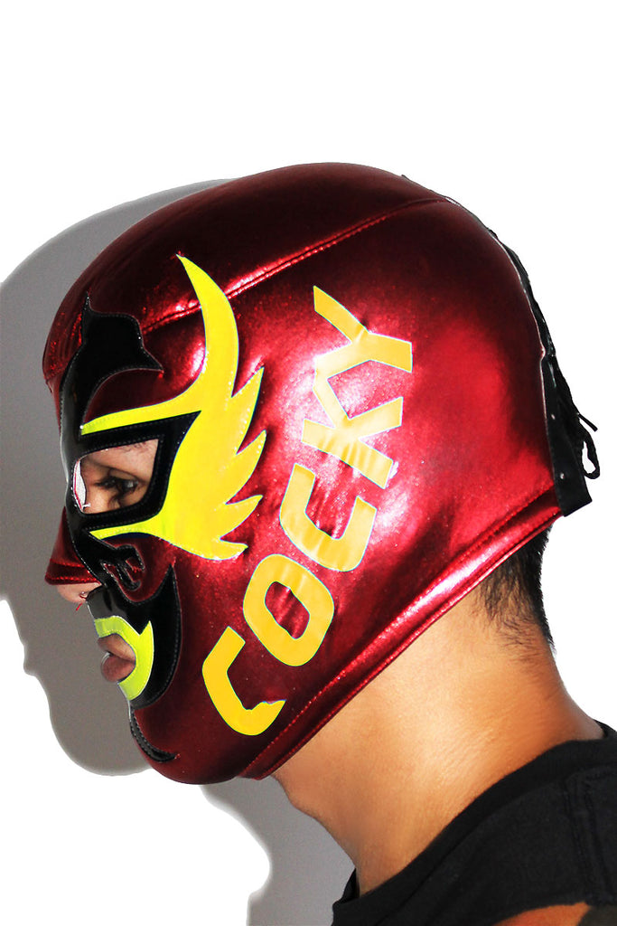 Cocky Luchadore Mask-Red