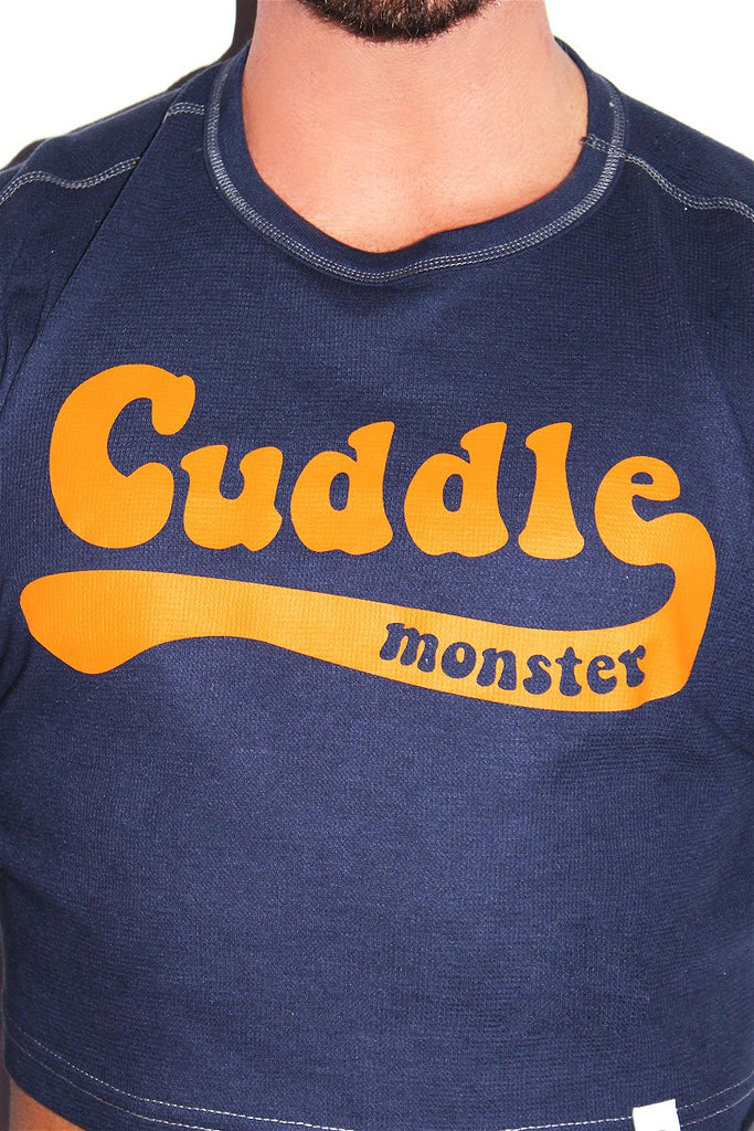 Cuddle Monster Long Sleeve Crop Thermal- Navy