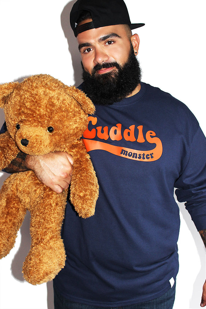 PLUS: Cuddle Monster Long Sleeve Tee- Navy