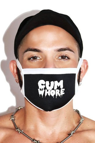 Cum Whore Face Mask- Black