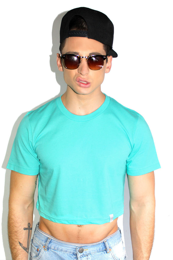 Core Crop Tee-Teal