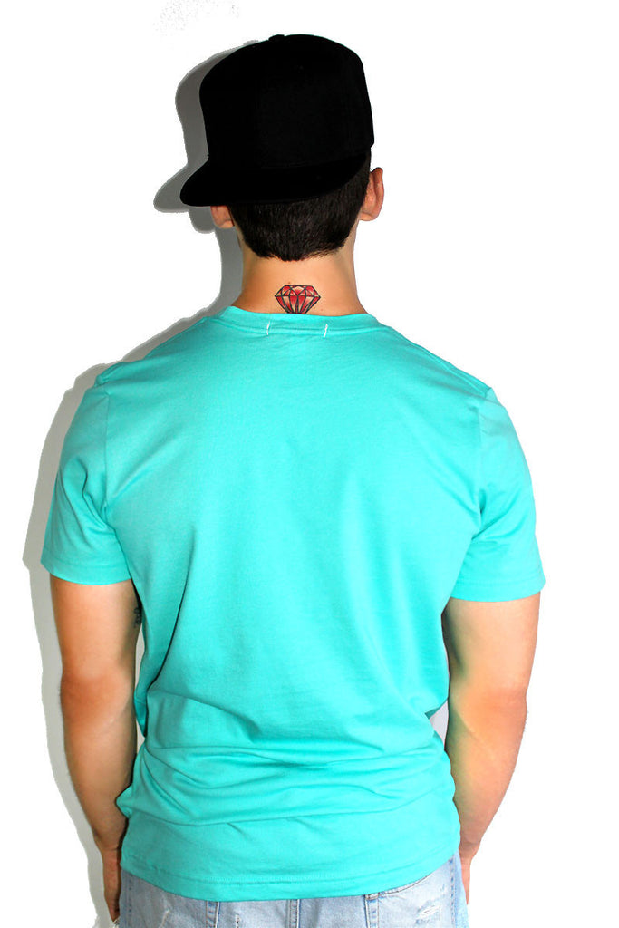 Core Crewneck Tee-Teal