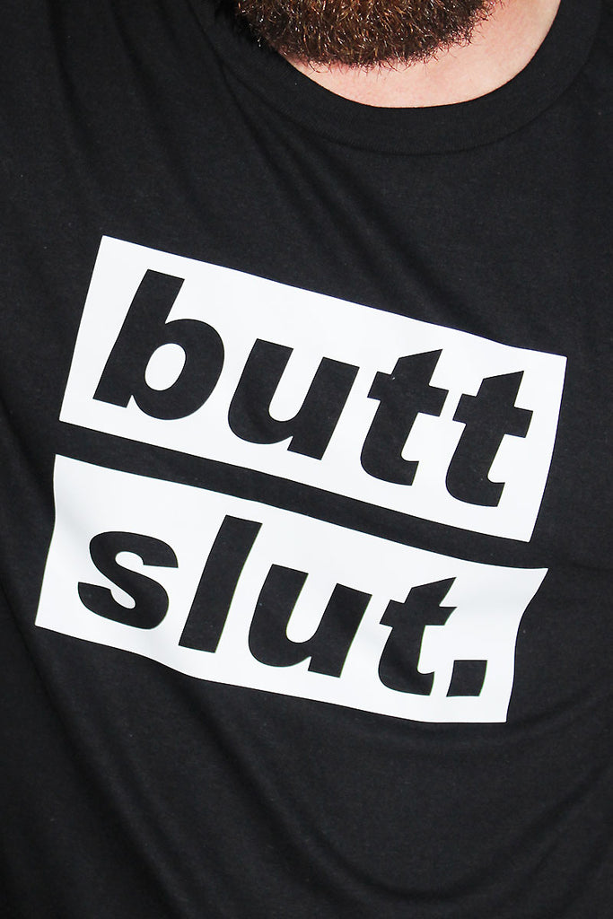 Butt Slut Tee-Black